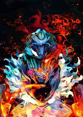 Colorful Slayer | Displate thumbnail