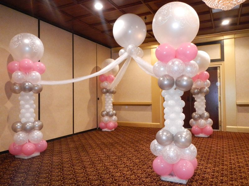 Beautiful balloon decorations for a girls christening or for Beautiful balloon decorations