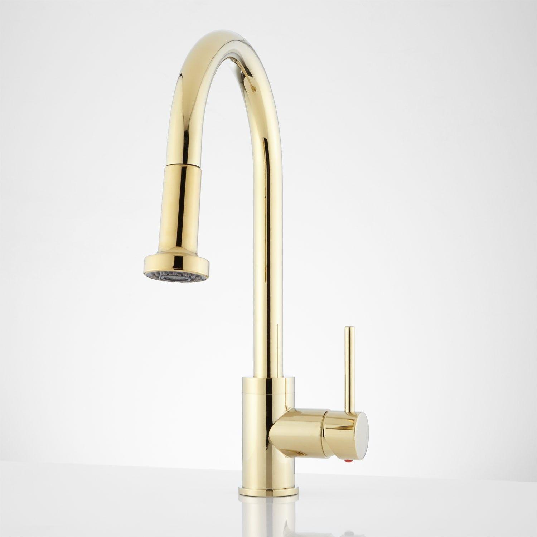 $156 Bainbridge Single Hole Pull Down Kitchen Faucet with