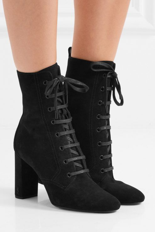 5b04a115f2 SAINT LAURENT fabulous Lou Lou suede ankle boots in 2019 | SAINT ...