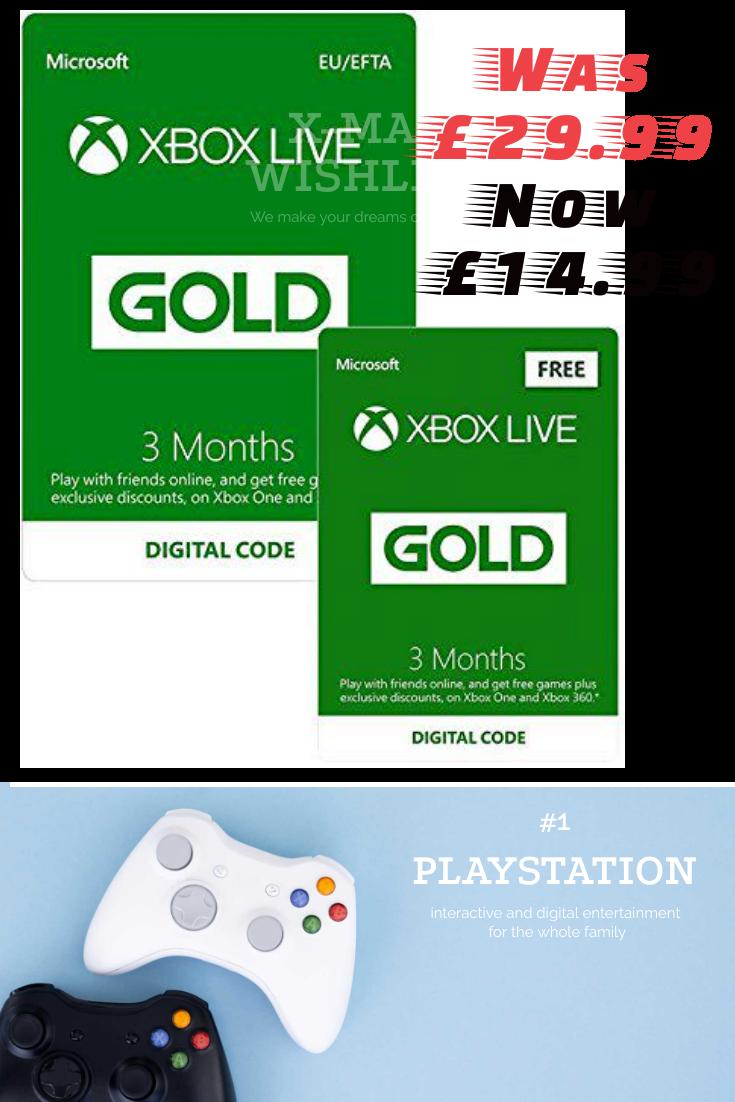 Xbox Live 3 Month Gold Membership 3 Months Free Xboxone Xbox360 Morenas