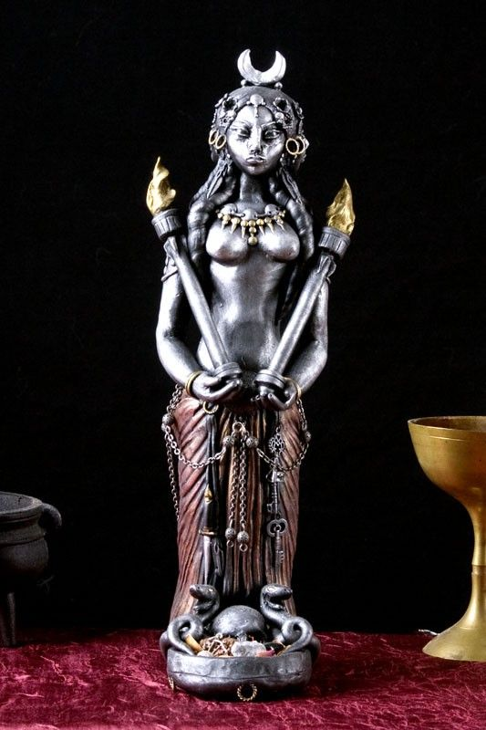 What A Beautiful Hecate Statue Made From Polymer Clay Hecate