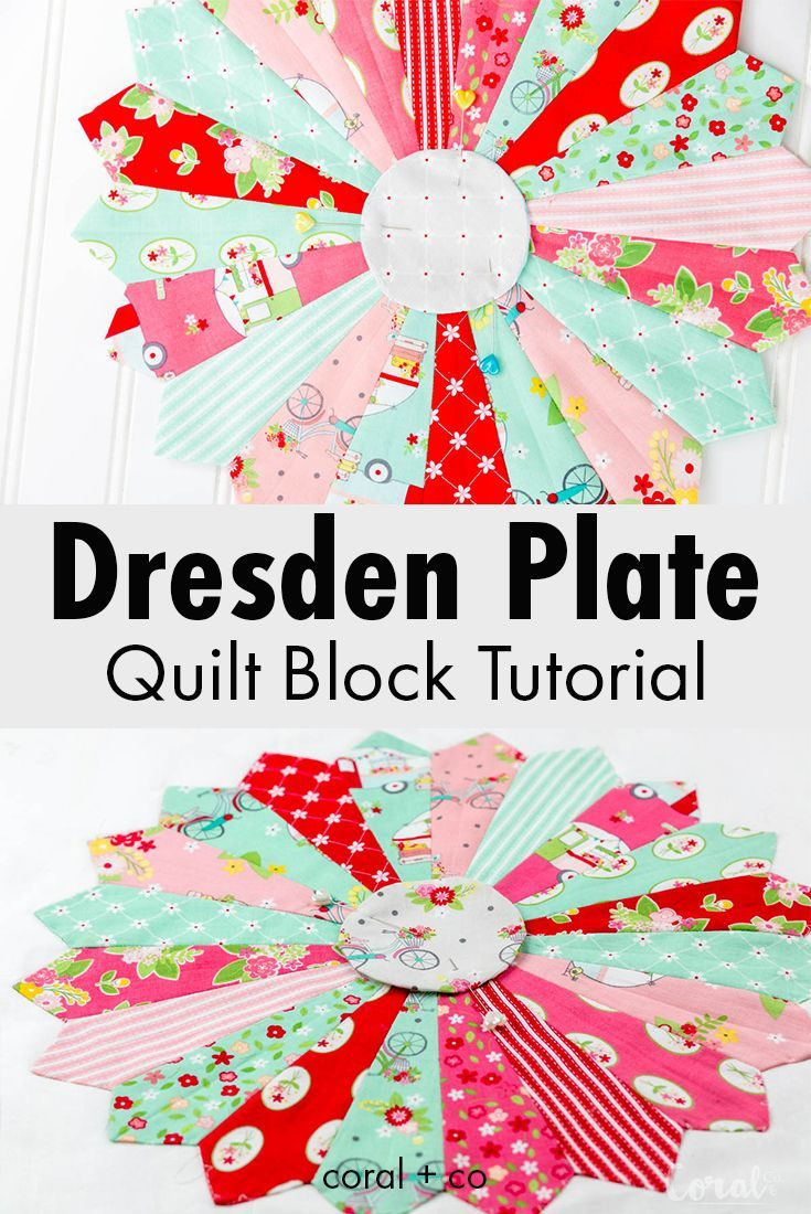 How To Make A Dresden Plate Quilt Block Tutorial In 2018 Quilting