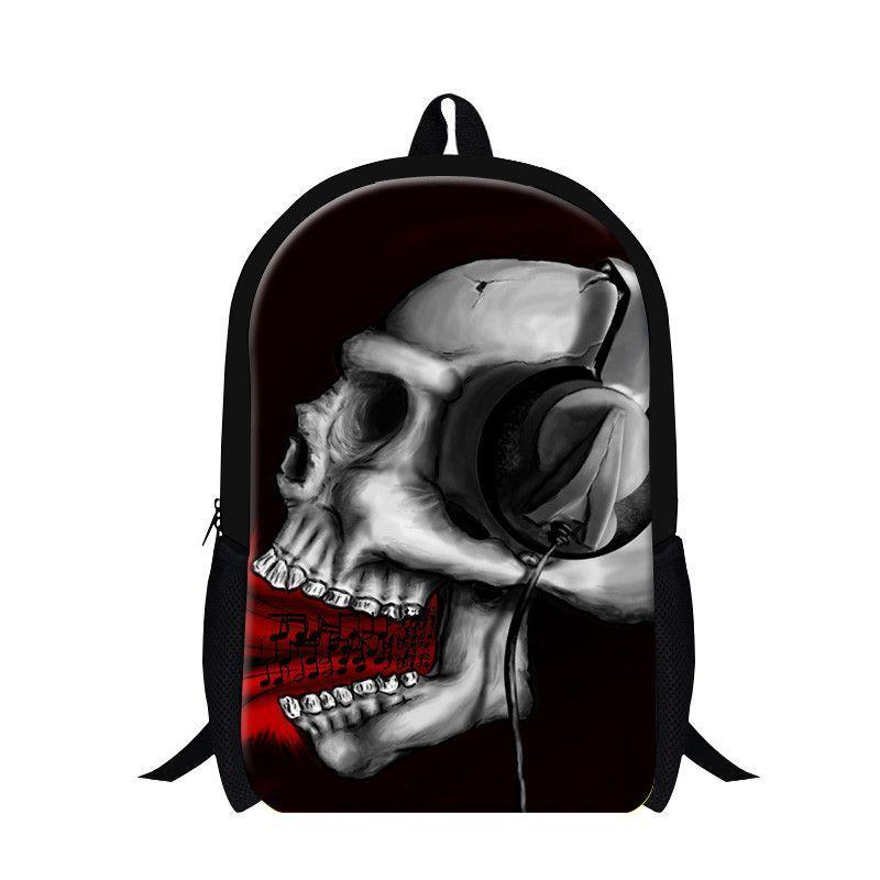 703440b5c426 Dispalang Burning Skull Print Shoulder Backpack Cool School Bags For  Teenage Boys Girls Kids Book Bags Mochila Escolar Feminina
