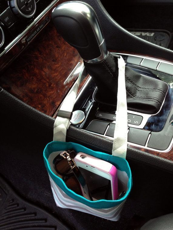 nice CAR CELLPHONE CADDY, Turquoise and Gray Chevron, Smartphone ...