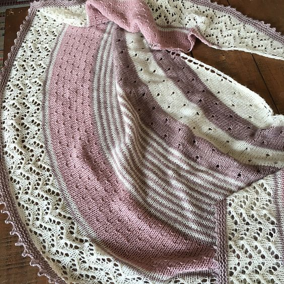 Milkshed's 3 Color Shawl