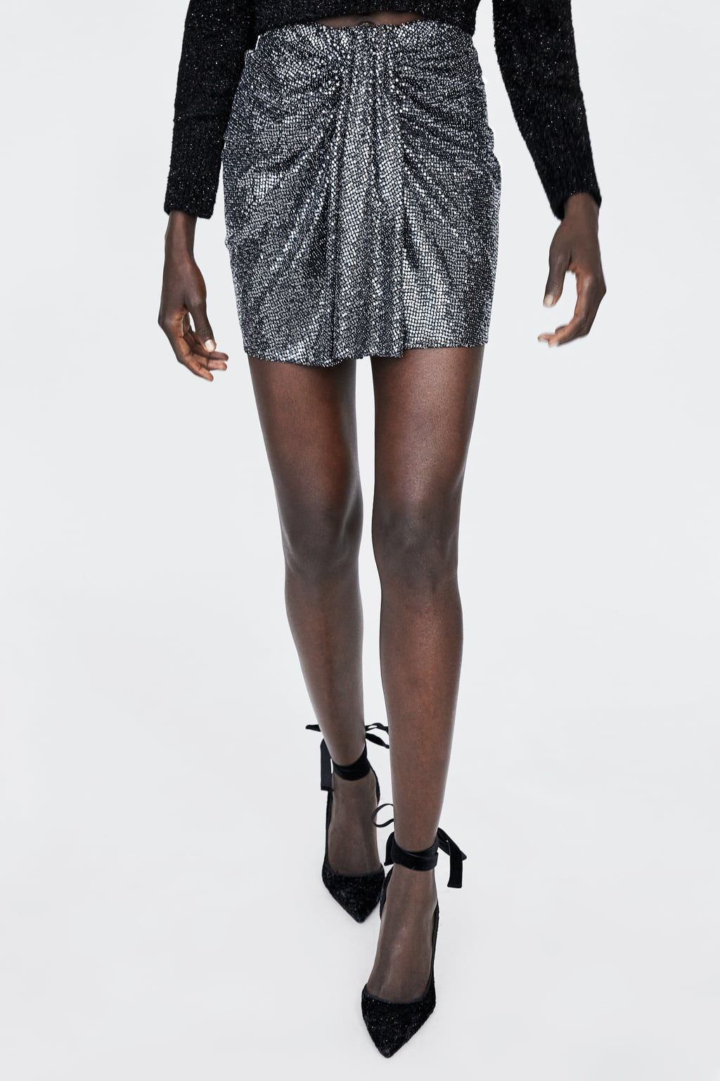 nederdel med pailletter