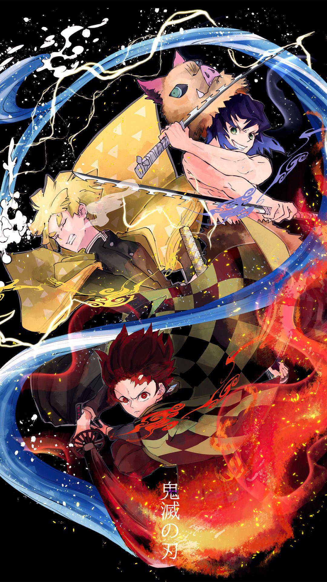 Demon Slayer Mobile Wallpaper Heroscreen Cool Wallpapers In 2021 Anime Anime Wallpaper Awesome Anime Demon slayer anime phone wallpaper