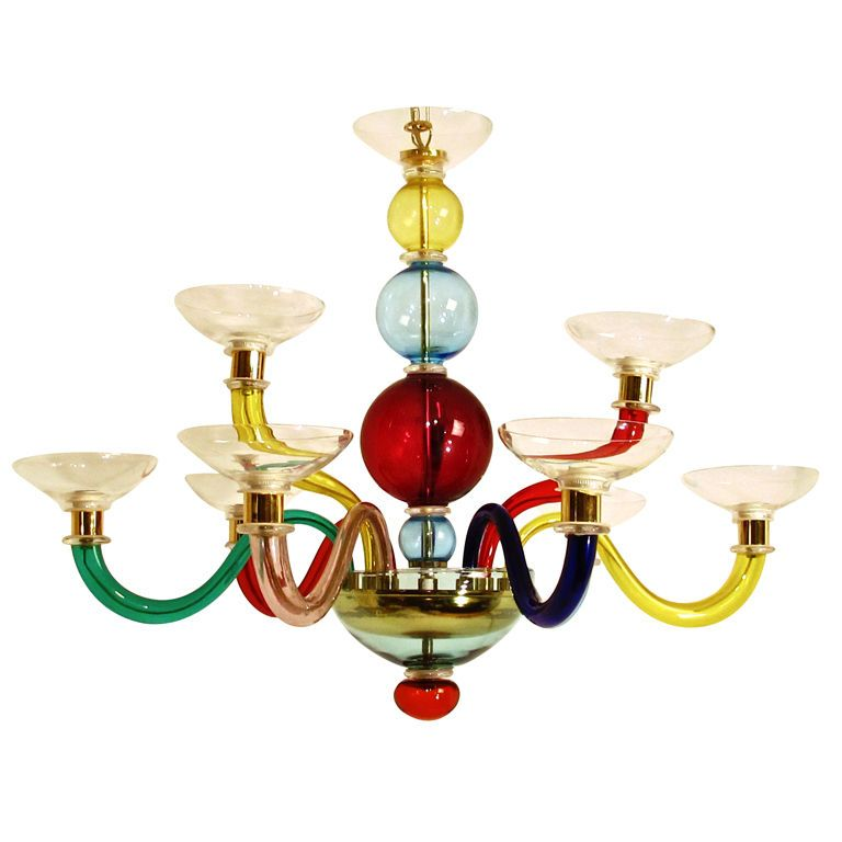 Italian murano glass chandelier after gio ponti araa velas y luces italian murano glass chandelier after gio ponti 1stdibs aloadofball Image collections