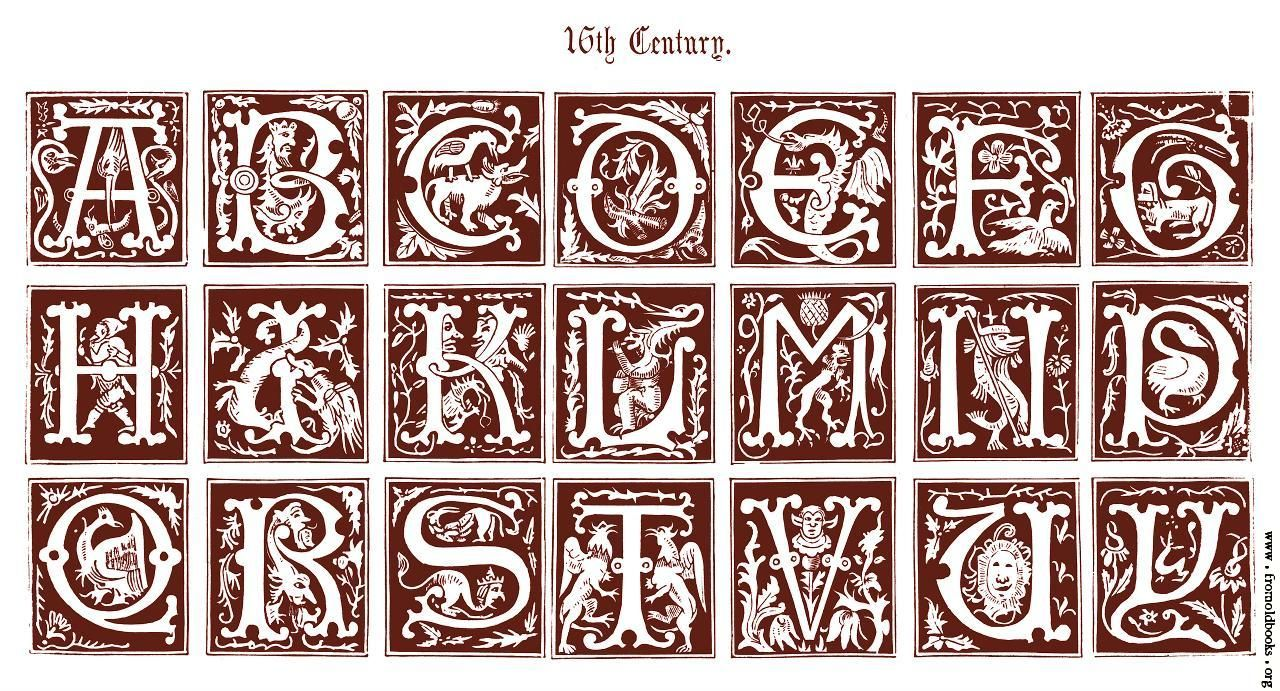 16th Century Ornamental Alphabets Ancient And Medi 230 Val
