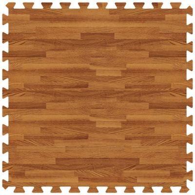 Groovy Mats Dark Oak 24 In X 24 In Comfortable Wood Grain Mat 100