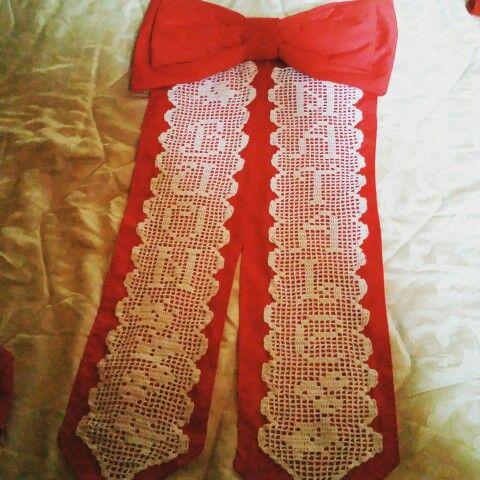 Fiocco fuori porta #manidifata #crochet #unicinetto #natale