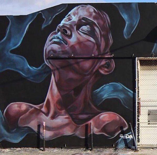 """""""Awake"""" Nuovo muro di Paola Delfin a Wynwood, Miami, per Art Basel 2015"""