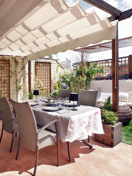 Transforma tu porche o terraza en un oasis urbano con for Comedor terraza easy