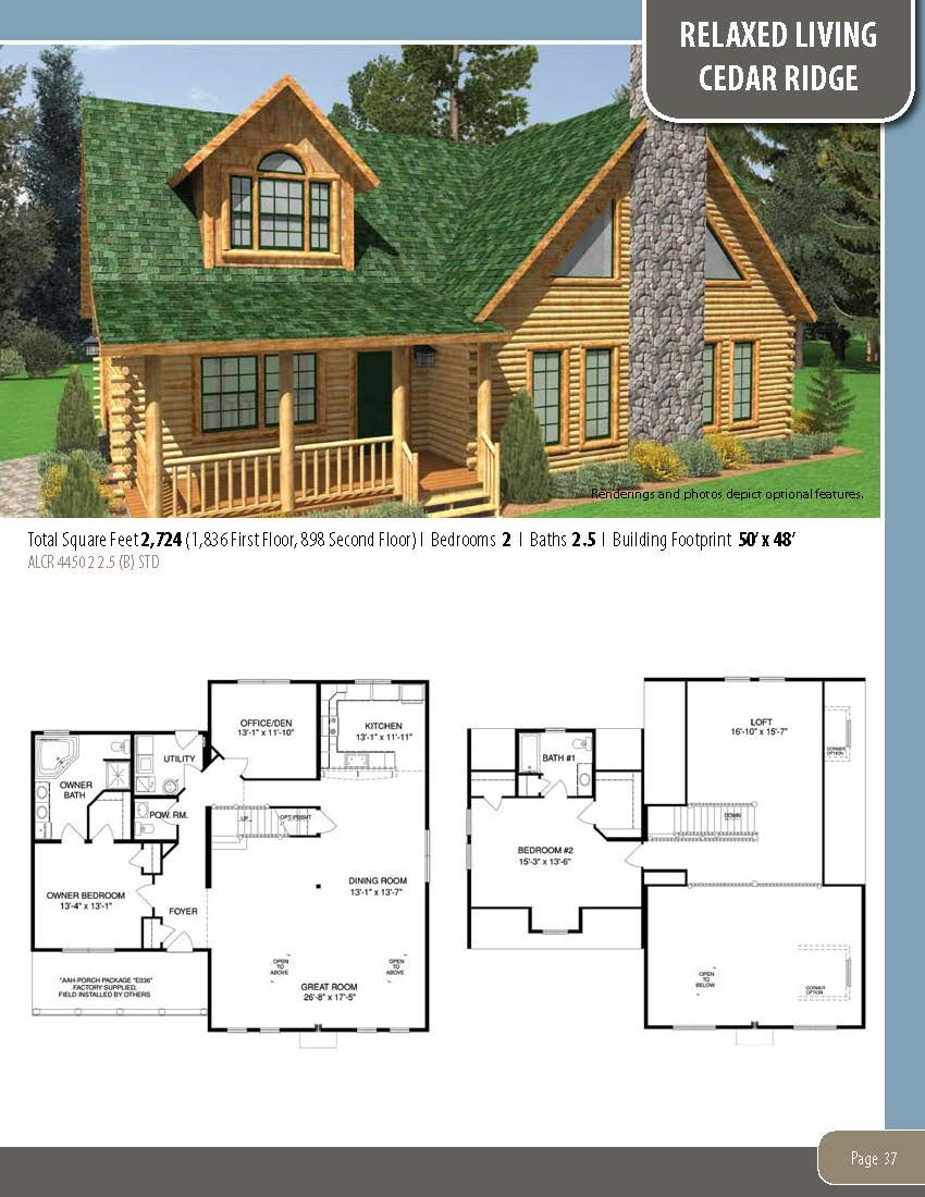 The Cedar Ridge Visit Our Website To Learn More About Our Custom Homes Or To Download A Free Copy Of Any Of Our F Farmhouse Plans Log Home Plans House Plans