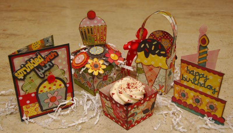 sweet treats party kit  cricut birthday cricut cards
