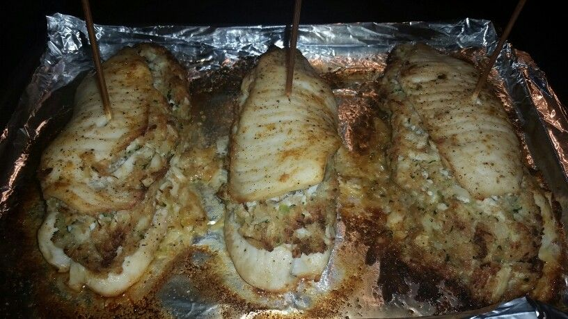 Photo of Crabed stuffed talipa..yum my hubby made