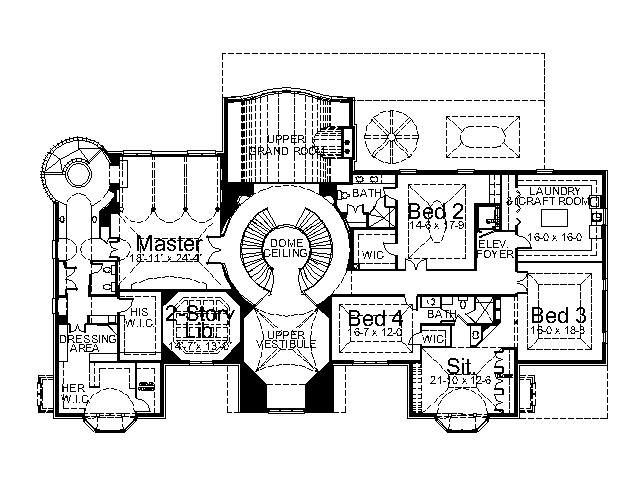Dysart Castle House Plan 6140 5 Bedrooms And 4 5 Baths