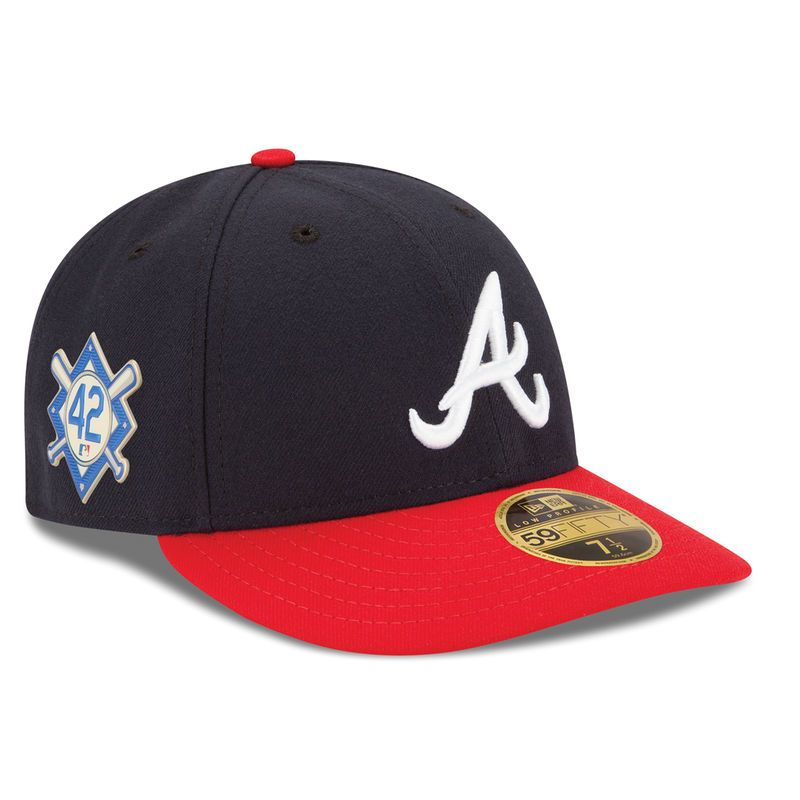 Atlanta Braves New Era 2018 Jackie Robinson Day Low Profile 59fifty Fitted Hat Navy