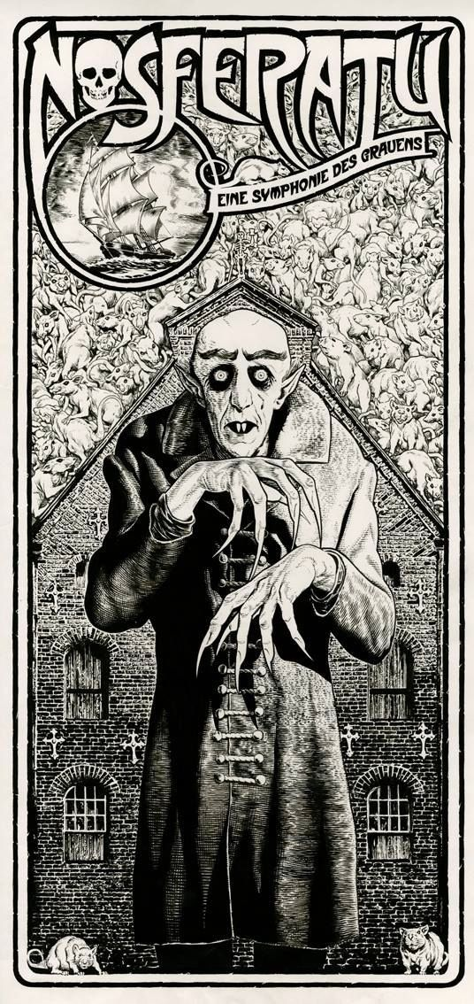 Nosferatu movie poster by chris weston british http chrisweston co