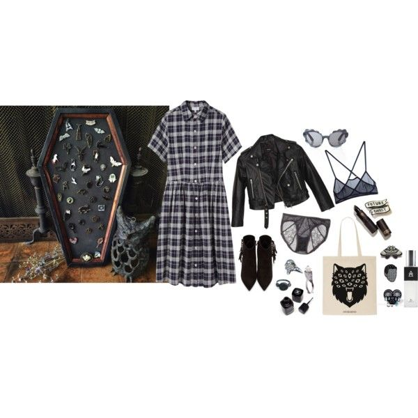 A coffin-shaped pinboard! by ghoulnextdoor on Polyvore featuring Steven Alan, Nasty Gal, Yves Saint Laurent, Gisele Ganne, Bjørg, Opening Ceremony, Lipstick Queen and MTWTFSS Weekday