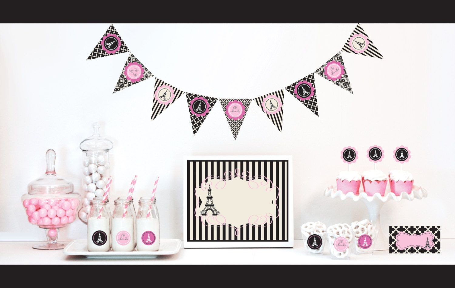 Paris themed birthday party ideas - Paris Themed Party Decorations Kit Bridal Shower Por Modparty