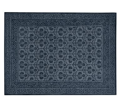 Braylin Tufted Wool Rug 8x10 Blue At Pottery Barn