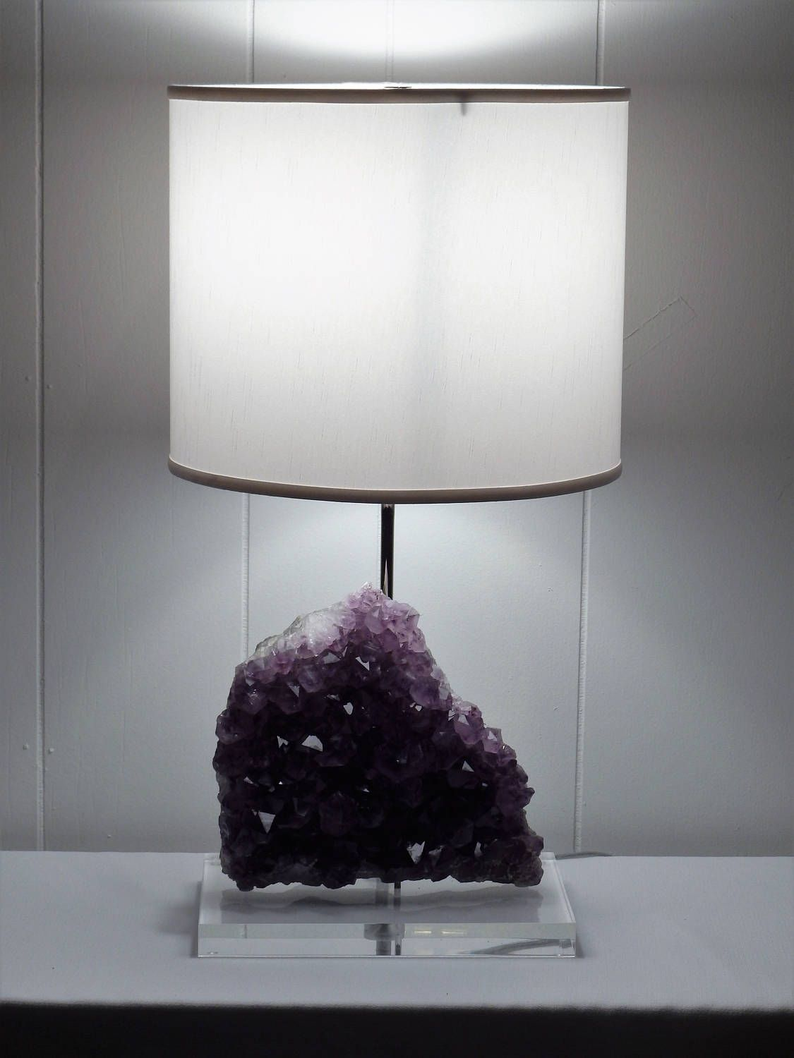 Amethyst rock crystal table lamp jessica crystals lamp amethyst rock crystal table lamp jessica crystals lampgemstone lampmineral lampgeode lamp mozeypictures Gallery