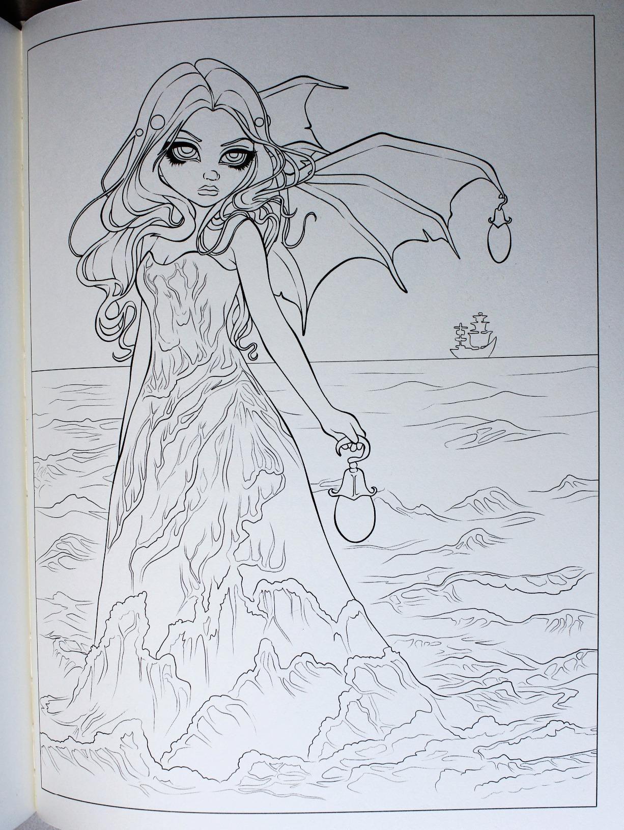 Amazon.com: Jasmine Becket-Griffith Coloring Book: A Fantasy Art ...