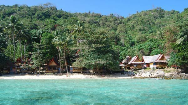 Phi Relax Beach Resort Tropical Bungalow Island Thailand Small Private Simple