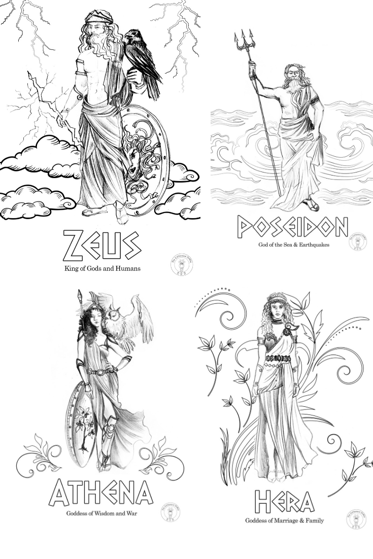 Does your child love Greek Mythology and Coloring Pages