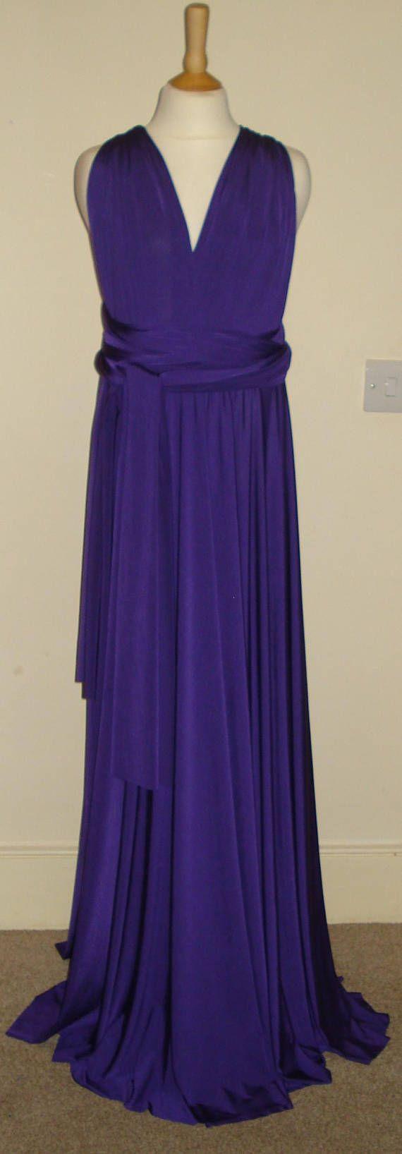 Purple Junior Infinity Dress Flower Girl Dress Teen Bridesmaid Dress ...