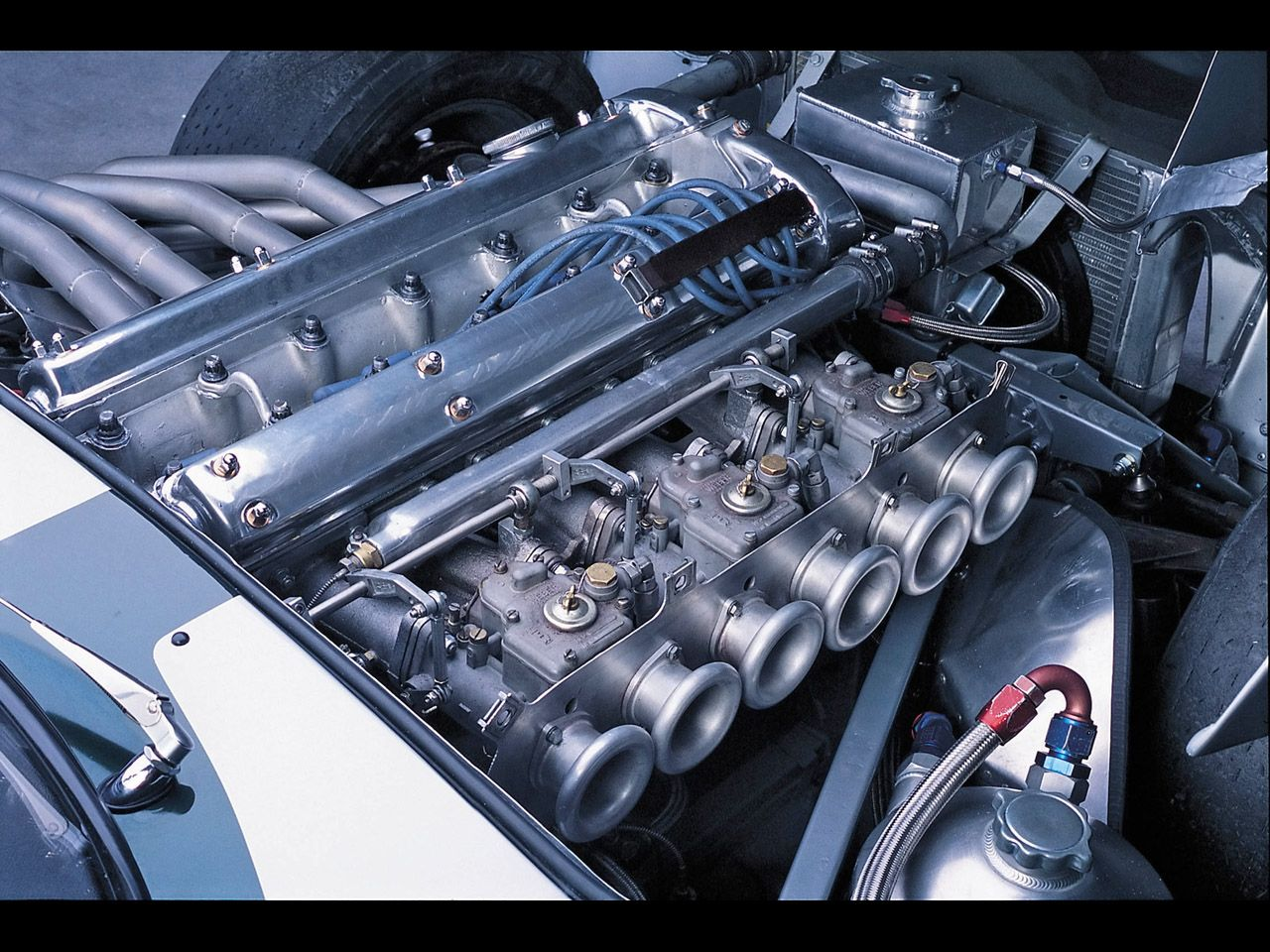 Jaguar E Type 1962 Engine Compartment Look At Beautiful Row Of