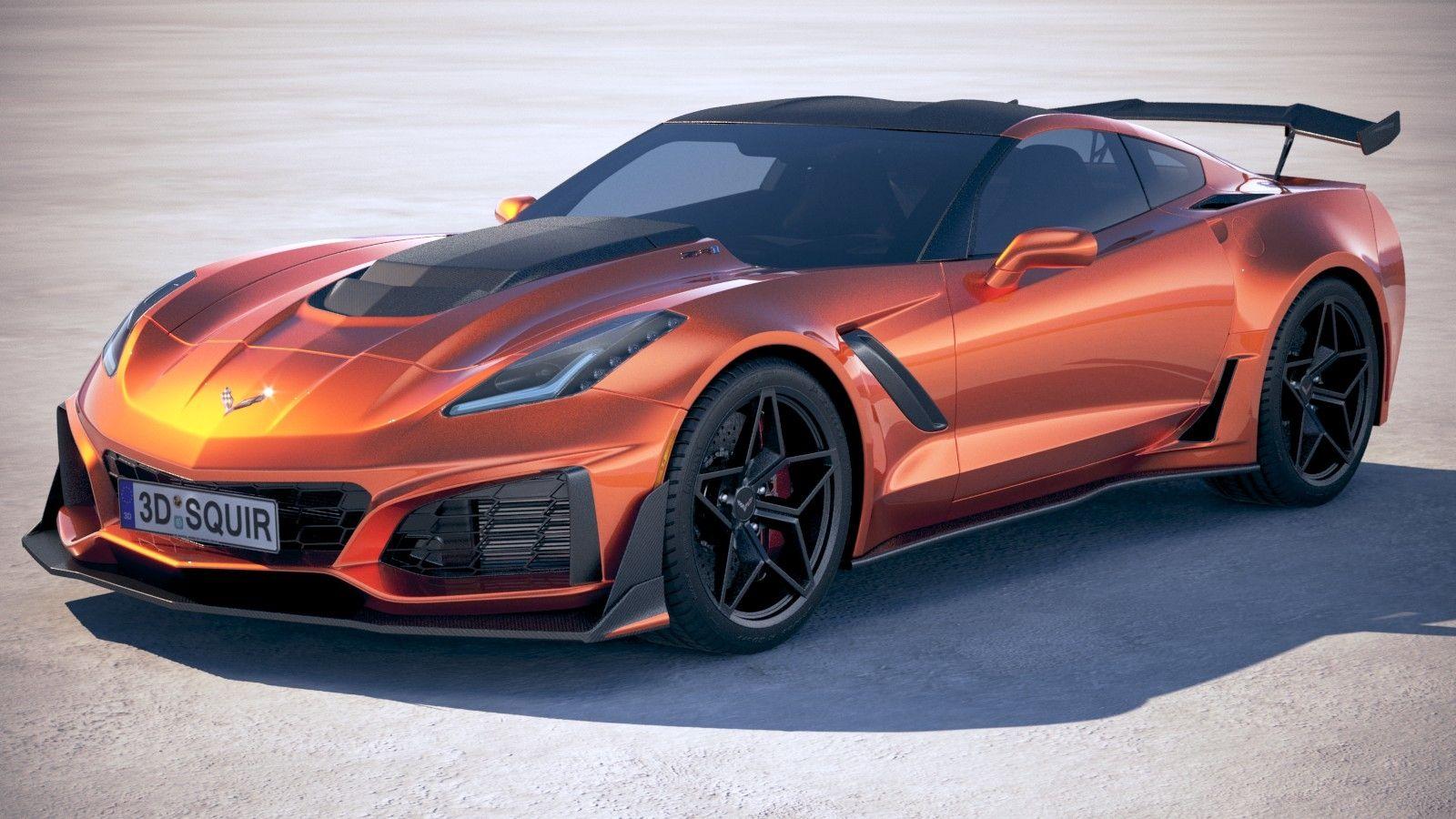 3D Chevrolet Corvette ZR1 2019 model (With images