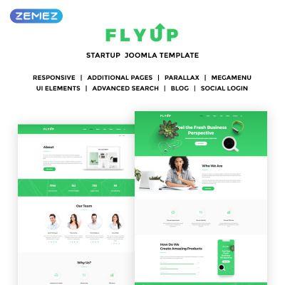 Flyup Fresh Startup Business Bootstrap Joomla Template Design