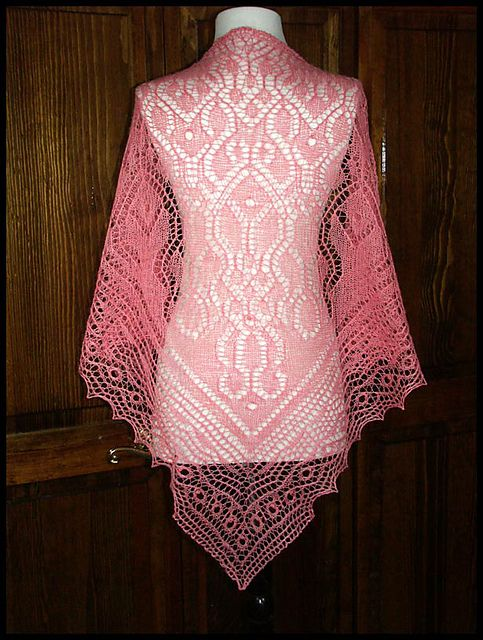 Crochet Lace Weight Shawl Pattern :