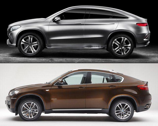 2015 Mercedes Concept Coupe SUV vs 2015 BMW X6  cars  Pinterest