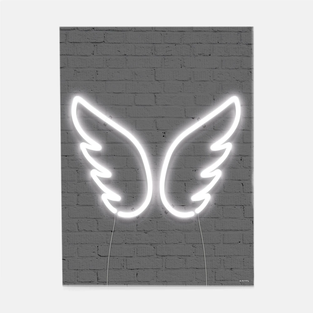 Neon Wings Print Dormify Neon Sign Bedroom Dorm Wall Decor Neon Room Decor