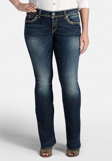 ac0e2ec9339 silver jeans co.   suki plus size thick stitch bootcut jeans (original price
