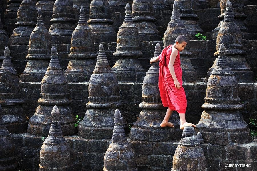 A monk in MraukU Monk