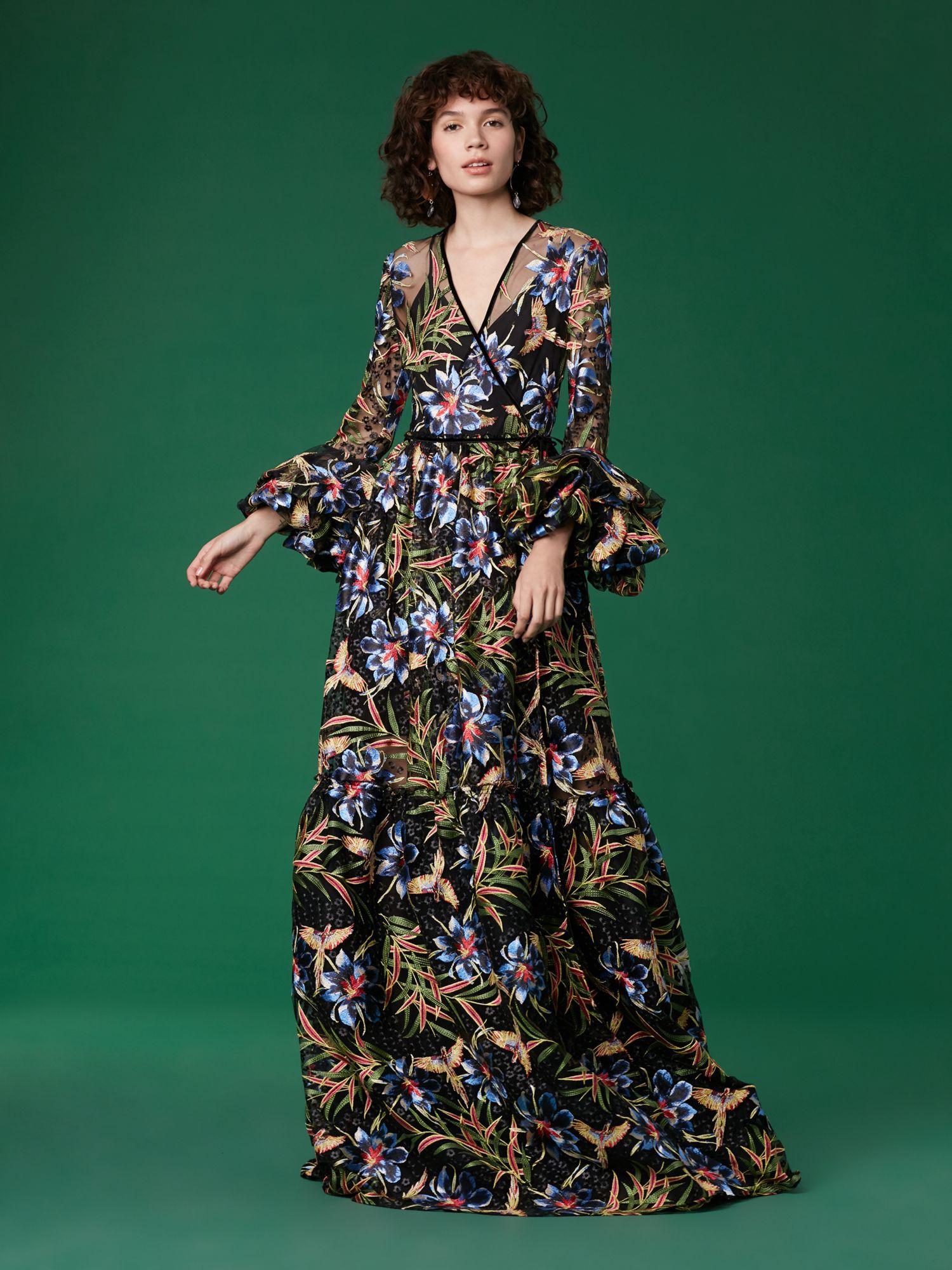 0ca35a3475d Diane Von Furstenberg Dvf Puff Sleeve Maxi Wrap Dress - Quincy Pearson  Multi 0