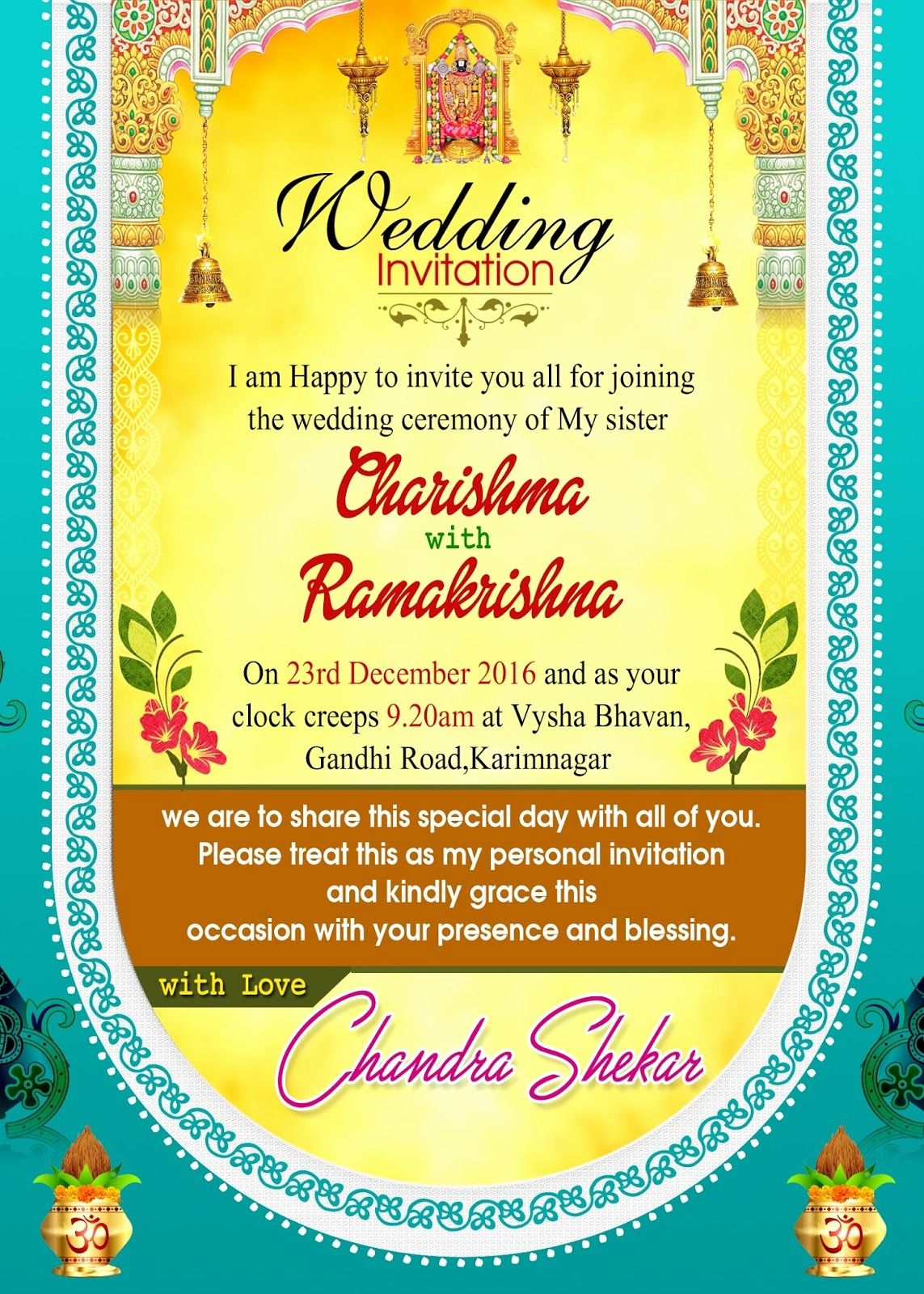 Invitation Card Template Free Download Lovely Indian