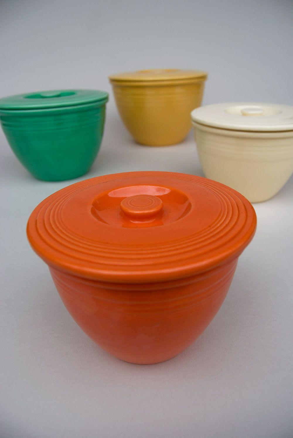 Vintage Fiestaware Nesting Bowl Lids: Radioactive Red, Rare Fiesta ...
