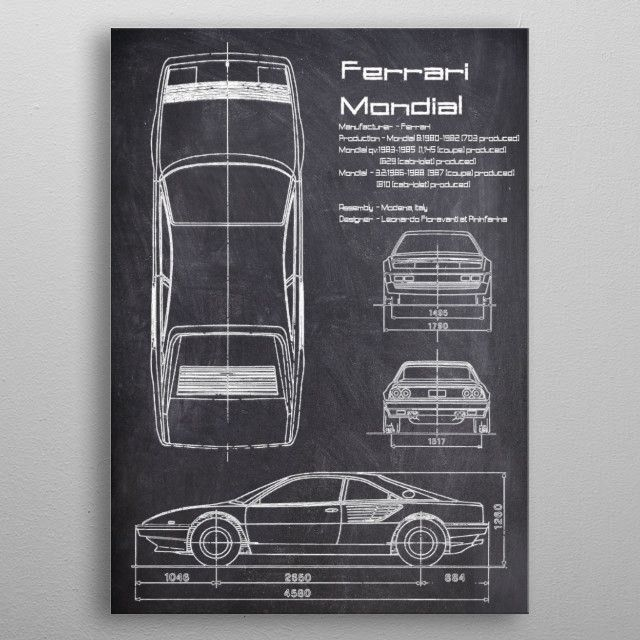 The Ferrari Mondial is a mid-engined, V8-powered grand tourer which was produced by Italian…   Displate thumbnail