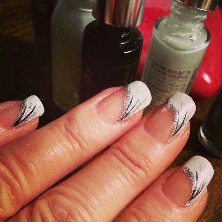 Fancy french manicure nail art you can do at home fancy french manicure french nail designsnail prinsesfo Choice Image