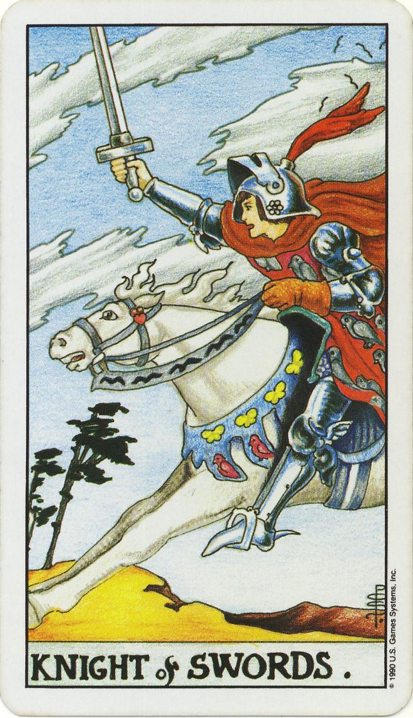 Tarot Knight Of Wands: 4.18.12 Tarot Card Of The Day: Knight Of Swords