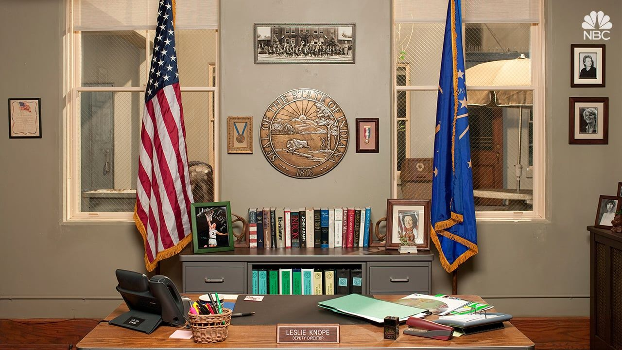 Parks and recreation zoom background in 2020 messy room