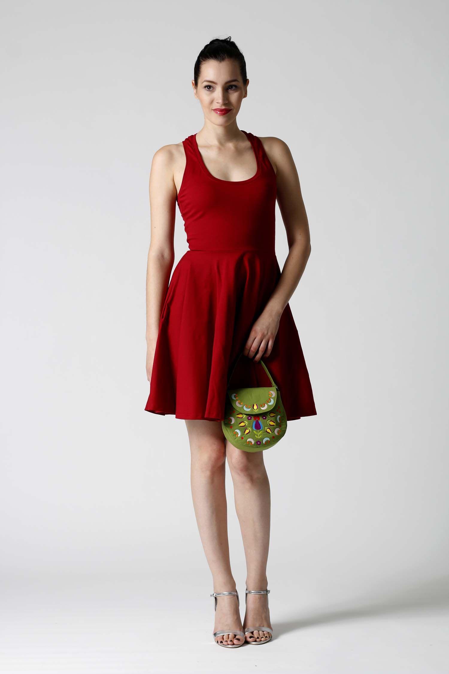 7843c5445931 ZuzanaZachar   Šaty vínovo červené s kruhovou sukňou