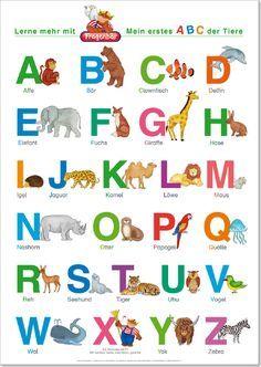 spielend lernen verlag - fragenbär - lernposter, das abc mit groß- und kleinbuchstaben