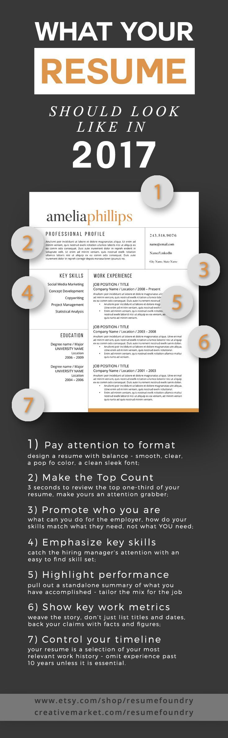 modern resume template for word and pages